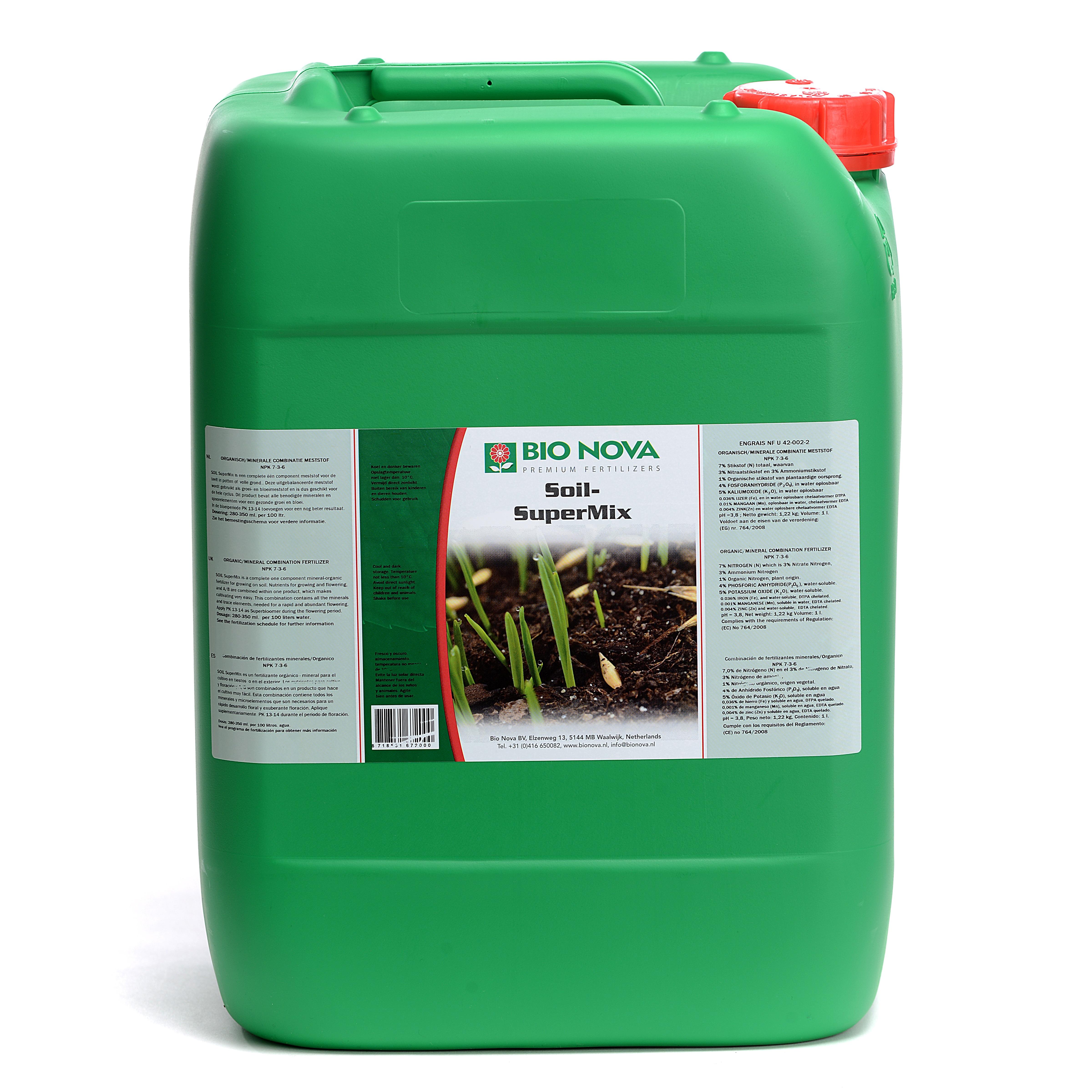 Bio Nova BN Soil SuperMix 20 Liter