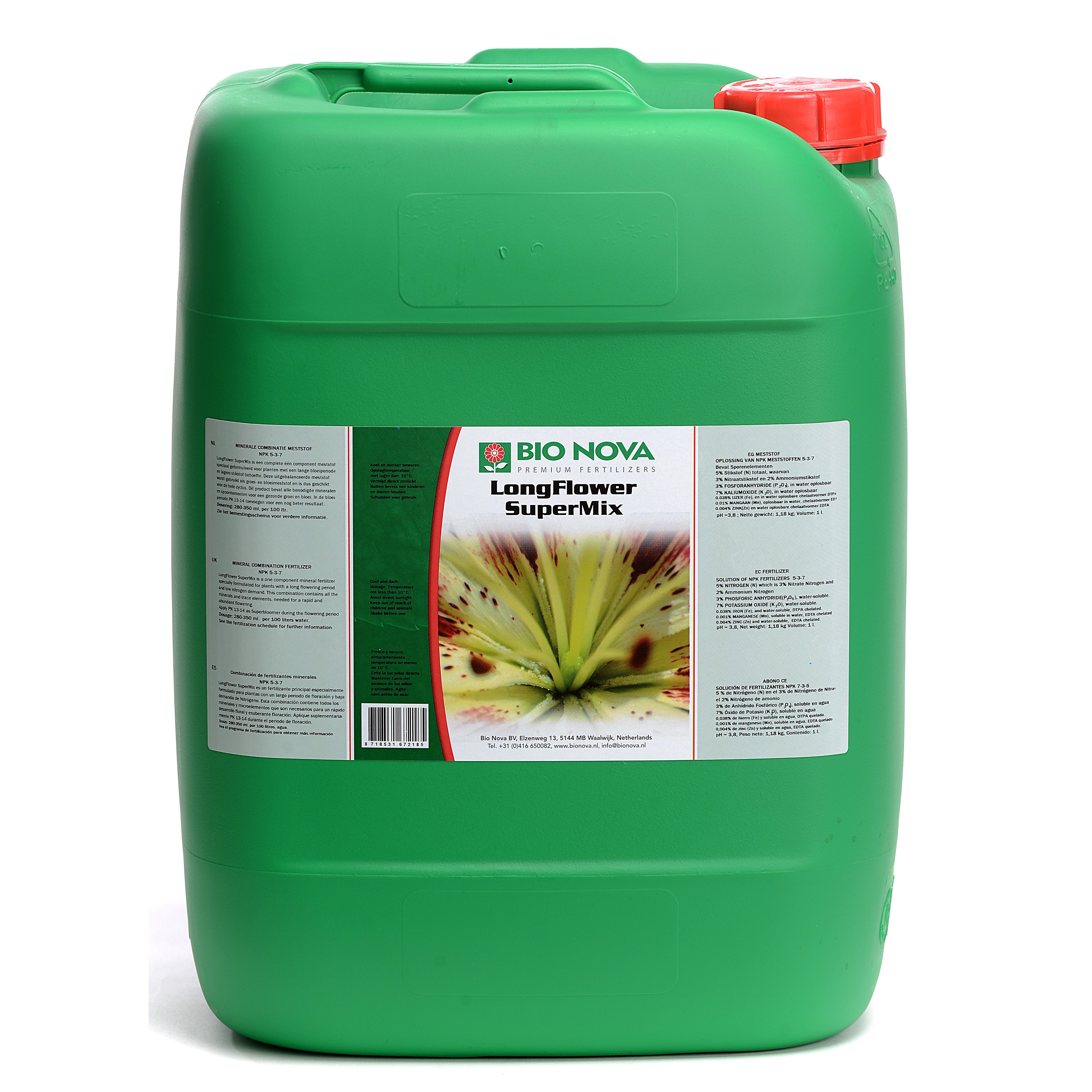 Bio nova BN LongFlower SuperMix 20 Liter