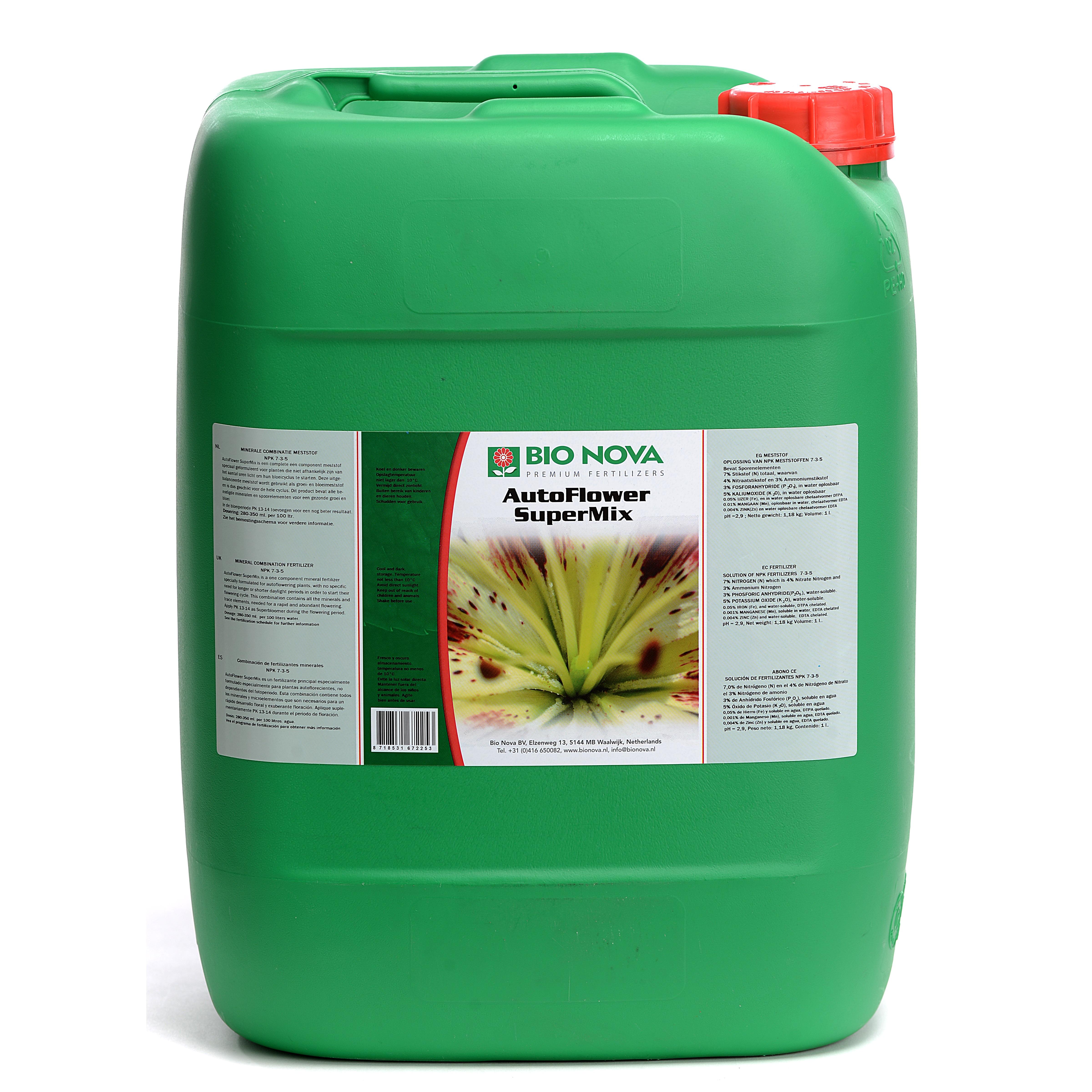 Bio nova BN AutoFlower SuperMix 20 Liter