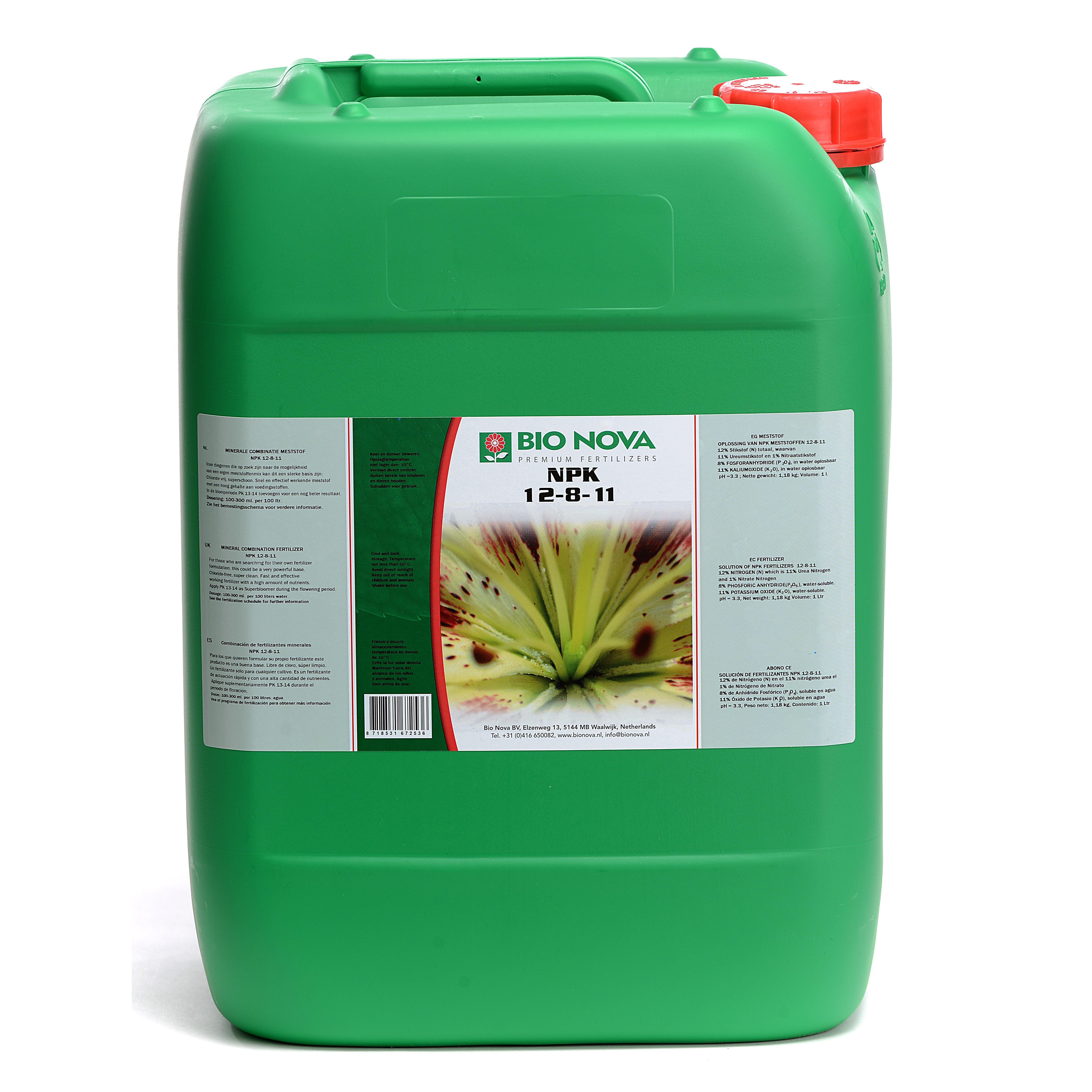 Bio Nova BN NPK 12-8-11 20 Liter