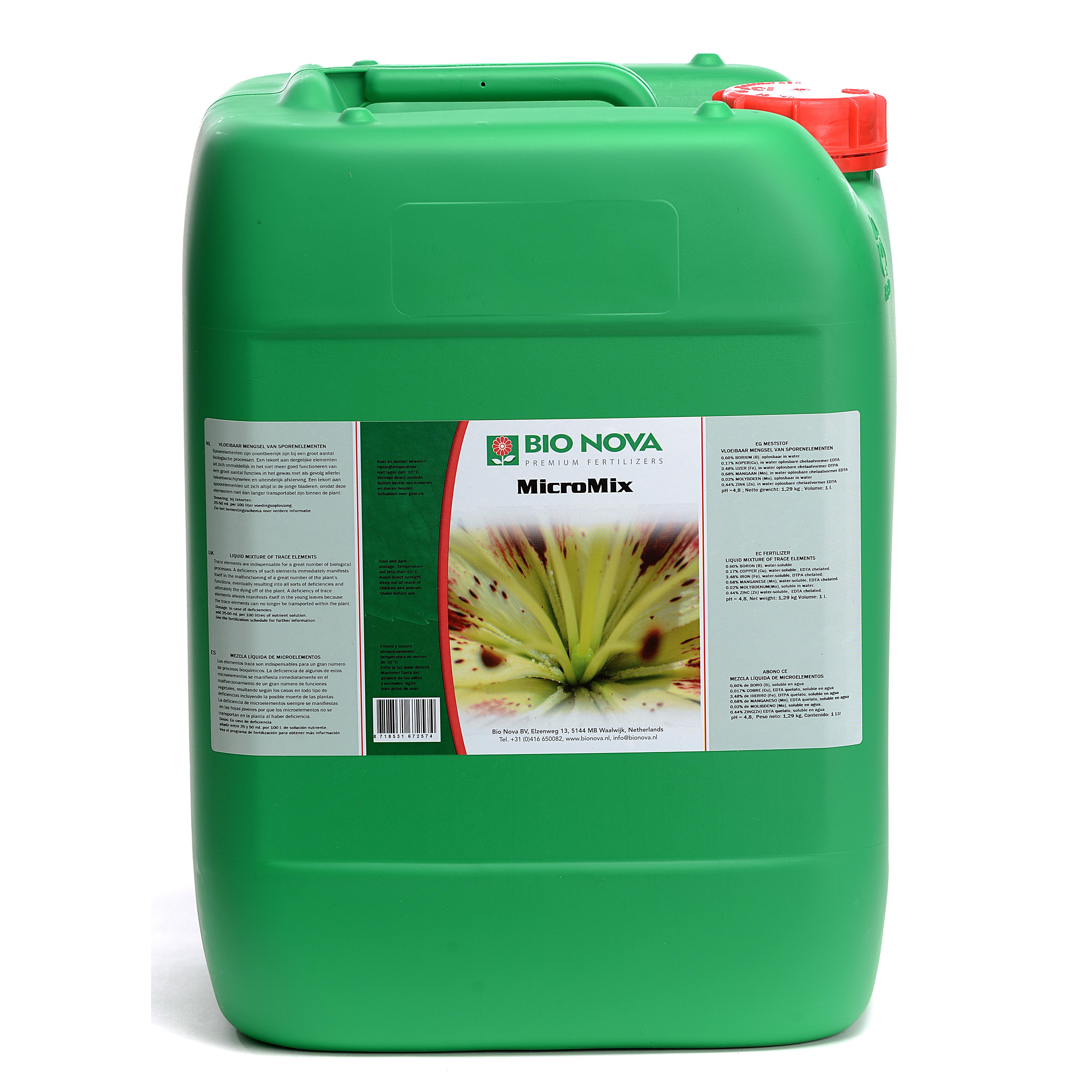 Bio Nova BN Micro Mix spoorelementen 20 liter